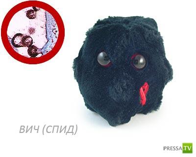 Плюшевые микробы, вирусы и прочая мелочь (15 фото)