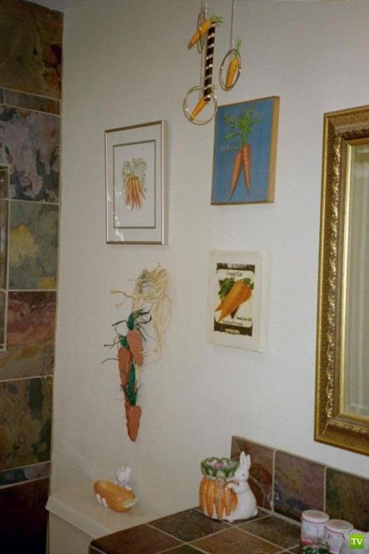 Морковные фанаты... Странноватая семейка (5 фото)
