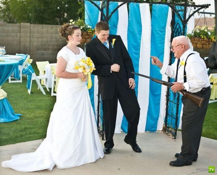 Веселые свадебные фотографии (59 фото)