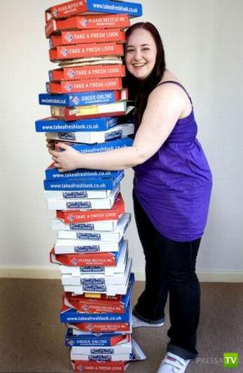 Девушка, которая питается пиццой на протяжении 8 лет ... (5 фото)