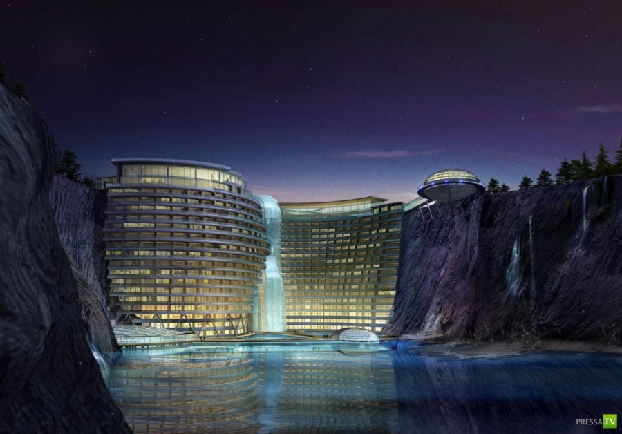 Подземный отель Songjiang beauty spot в Шанхае (5 фото)