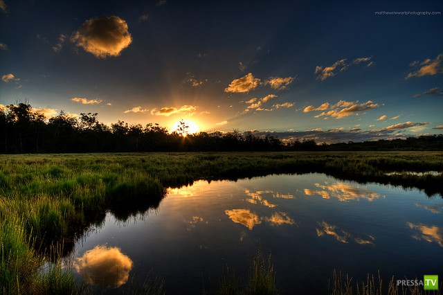 Великолепный закат солнца (8 фото)