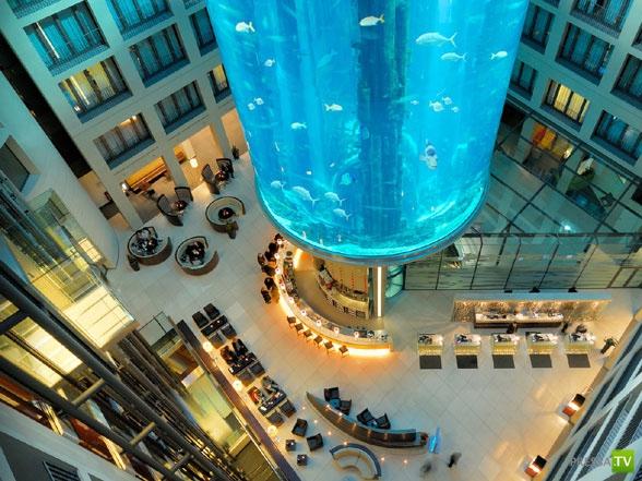Отель AquaDom и крупнейший в мире аквариум-цилиндр ... (9 фото + видео)
