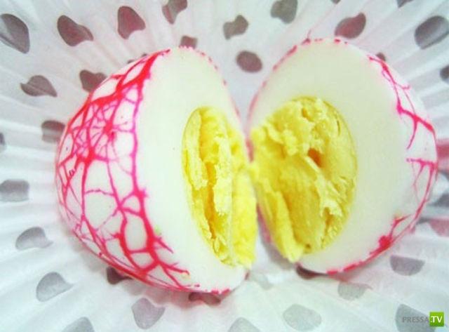 """""""Мраморные"""" пасхальные яйца (13 фото)"""