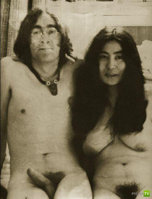 Обнажённые Джон Леннон и Йоко Оно ... (5 фото)