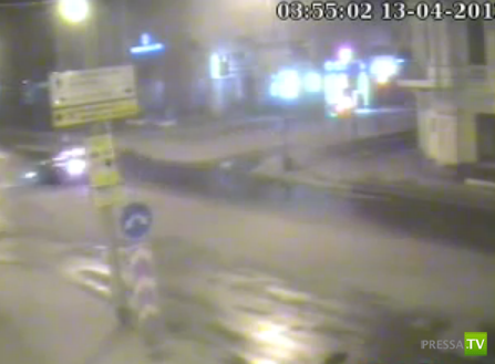 Столкновение в Красноярске...