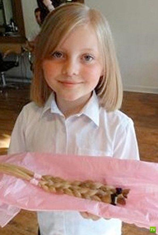 Девочки отдали свои волосы (6 фото)