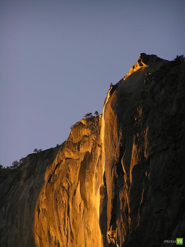 Огненный водопад Хорстейл в США (4 фото)