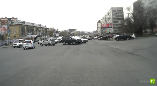 В Красноярске двойное ДТП...