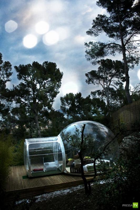 Прозрачный пузырь — отель во Франции ... (5 фото)