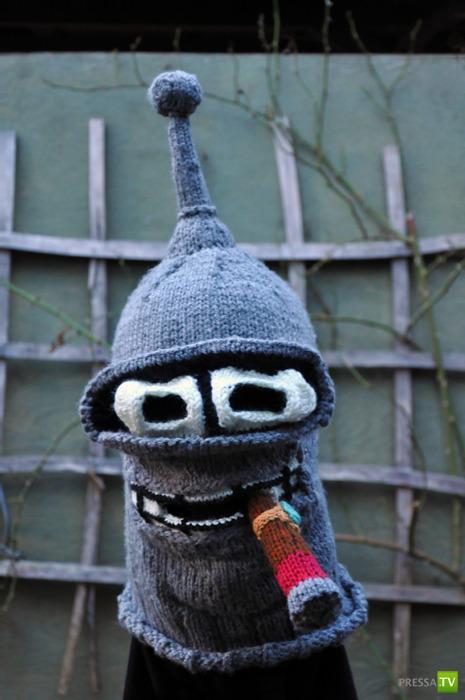 Самые невероятные вязаные шапки (13 фото)