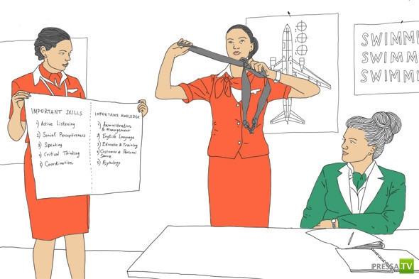 Как всё устроено: Работа стюардессы ... (6 фото)