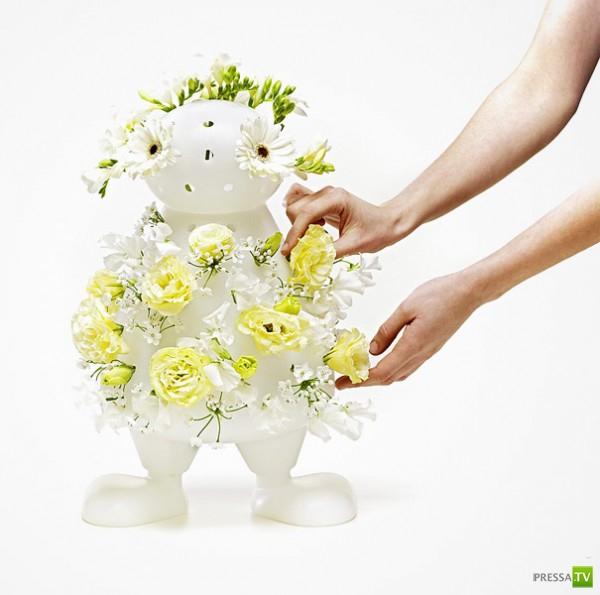 Необычные цветочные вазы (16 фото)