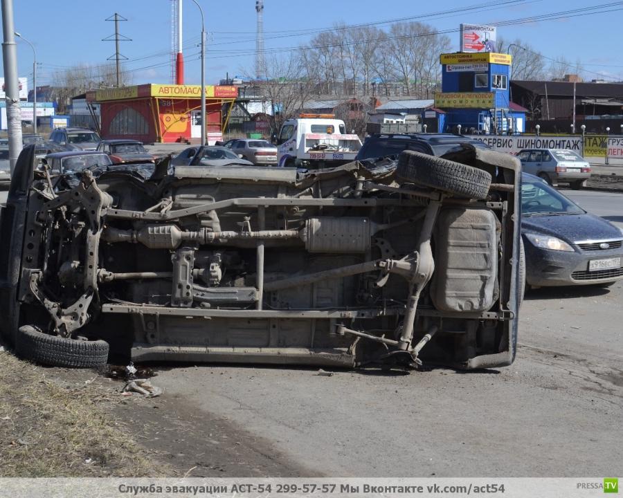 ДТП в Новосибирске на Гусинобродском шоссе...