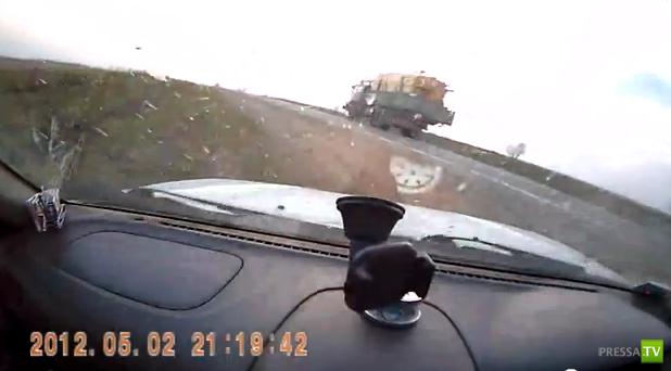 Занесло на трассе Владивосток - Хабаровск...