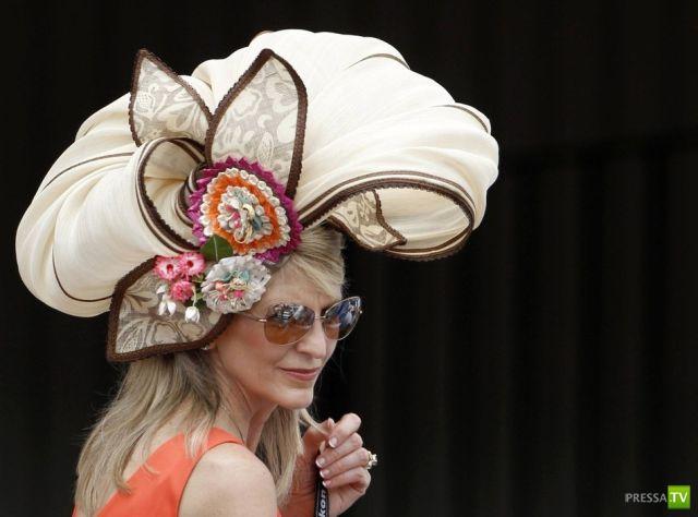 Сумашедшие шляпы на Дерби в Кентукки (26 фото)