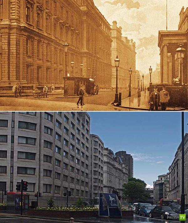 плотной сравнение фотографий и век спустя старших классов школы