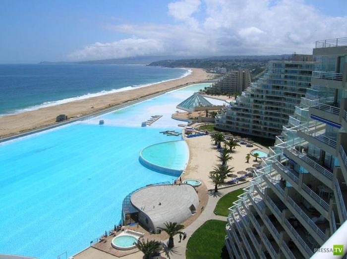 В Сан-Альфонсо дель Мар самый большой в мире бассейн (21 фото)