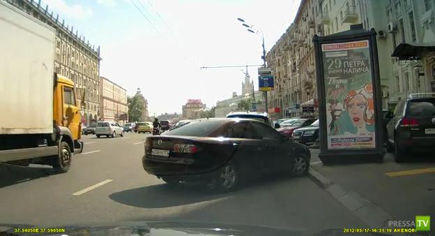 Авария на Садово-Кудринской в Москве  17 мая 2012