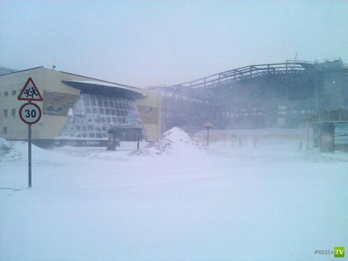 Середина мая в Норильске (6 фото)