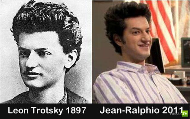 Поразительное сходство людей разных эпох (23 фото)