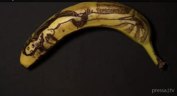 Тату на бананах (видео)