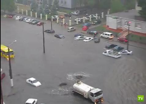Потоп на Балковской улице в Одессе...