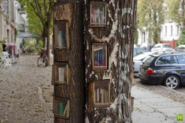 Необычные книжные автоматы на улицах Берлина (5 фото)