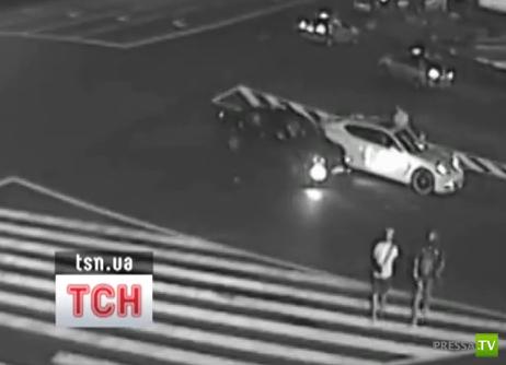 В  Porsche Андрея Шевченко врезался китайский джип... ДТП в Киеве