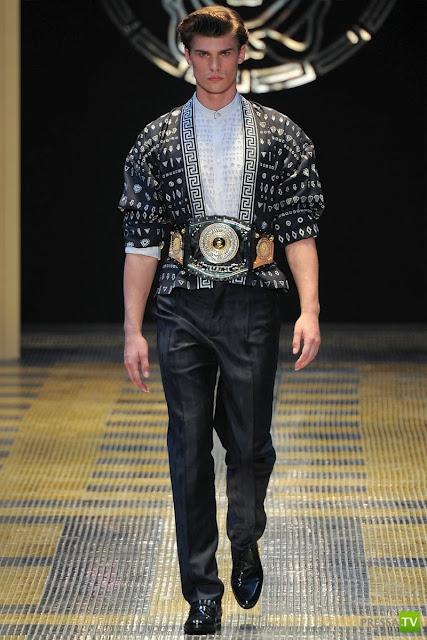 В мире мужской моды. Milan Fashion Week | Versace S/S 2013 ... (28 фото)