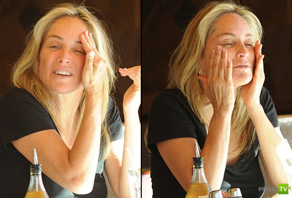 "Шэрон Стоун ""застукали"" без макияжа ... (9 фото)"