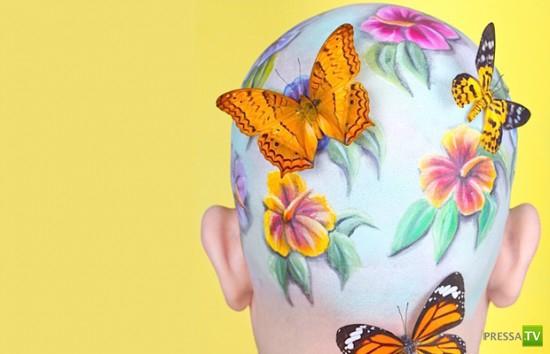 Как украсить лысую голову (6 фото)