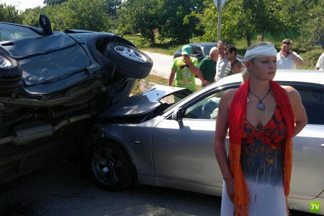 Анастасия Волочкова попала в аварию...