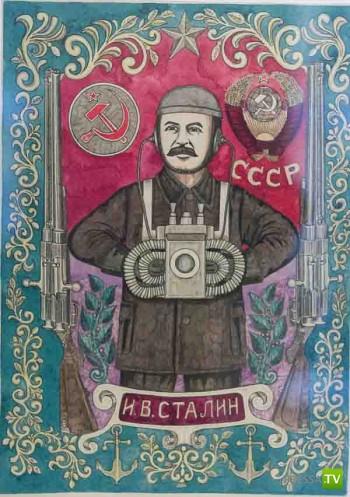 Произведения душевнобольного художника Александра Лобанова (21 фото)