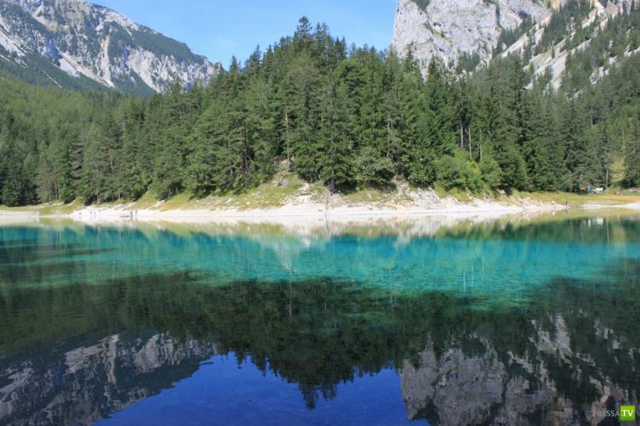 Grüner See (Зелёное озеро) в Австрии (18 фото)