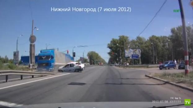МАЗ столкнулся с Рено... ДТП в Нижнем Новгороде