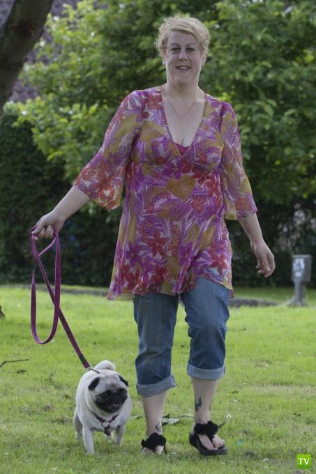 Собака и хозяйка худели вместе (7 фото)