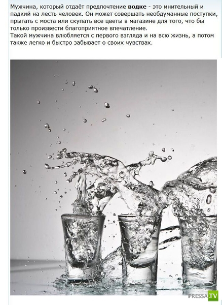 Можно определить характер мужчины по спиртным напиткам (5 фото)