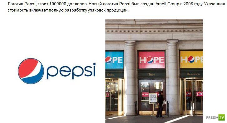 Сколько стоят логотипы всемирно-известных компаний (7 фото)