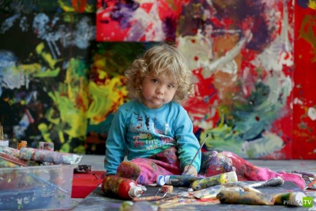 Самая юная профессиональная художница  Аэлита Андре (18 фото + видео)