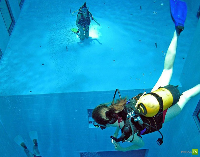 Nemo 33 - самый глубокий крытый бассейн в мире (11 фото)
