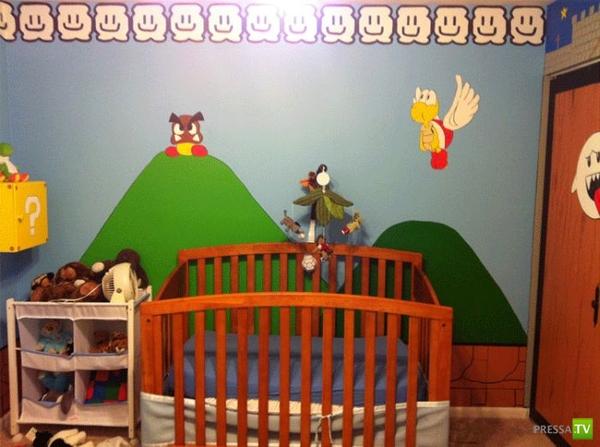 Супер Марио в детской спальне (4 фото)