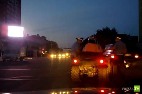 Квадроцикл на перекрестке в Подольске 19.08.2012