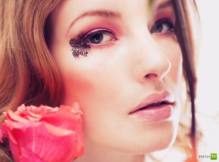 Революция в искусстве макияжа - кружевные накладные ресницы из бумаги (9 фото)