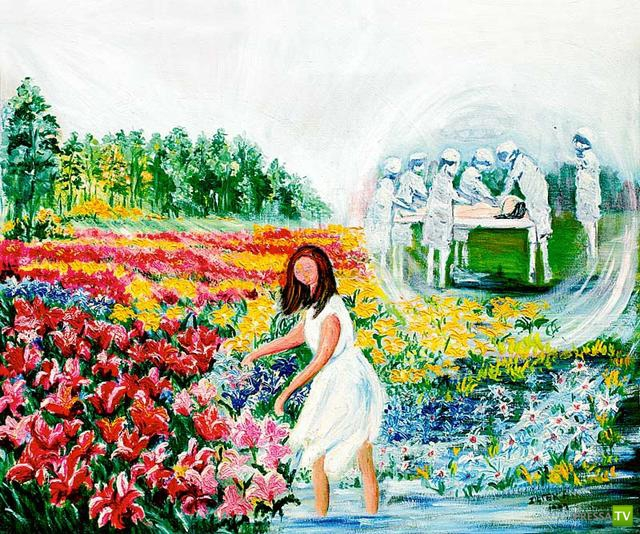 Воспоминания о клинической смерти польской художницы Алиции Зентек (Alicja Ziętek) (5 фото)