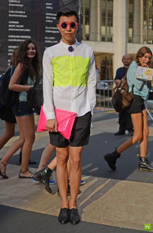 Модники и модницы на улицах Нью-Йорка (20 фото)
