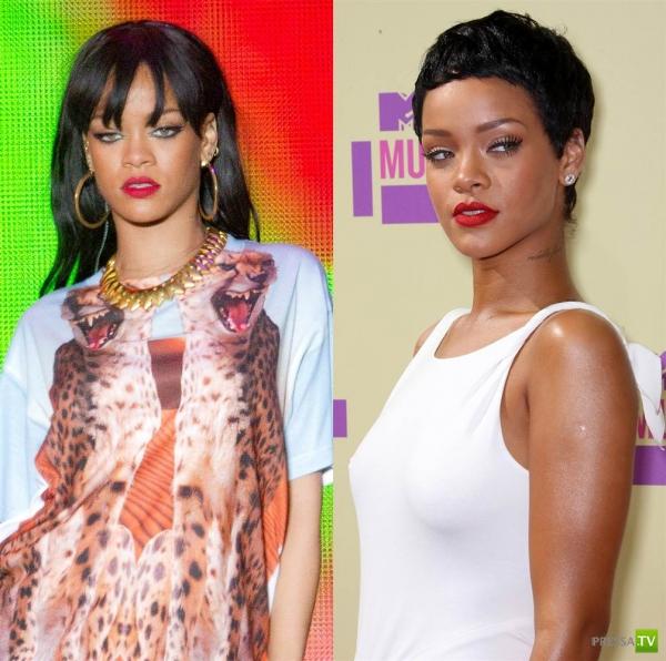 Как знаменитости меняют прически (15 фото)