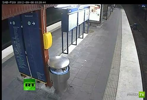 На пьяного ограбленного наехал поезд... Проишествие в Стокгольмском метро