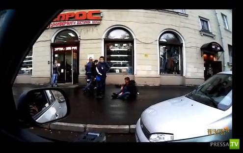 Избиение на улице в Питере...