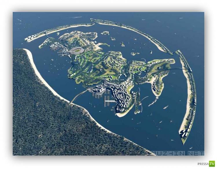В Сочи планируют построить искусственный остров по форме России